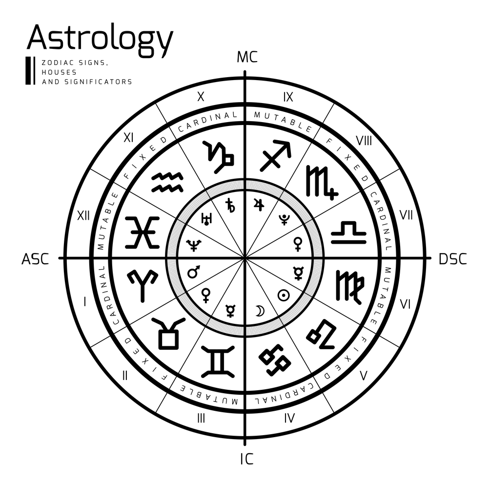 Astrology Chart Zodiac Reading Layout Signs